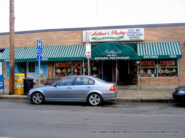 Arthur's Pastry Shop in Medford, Massachusetts