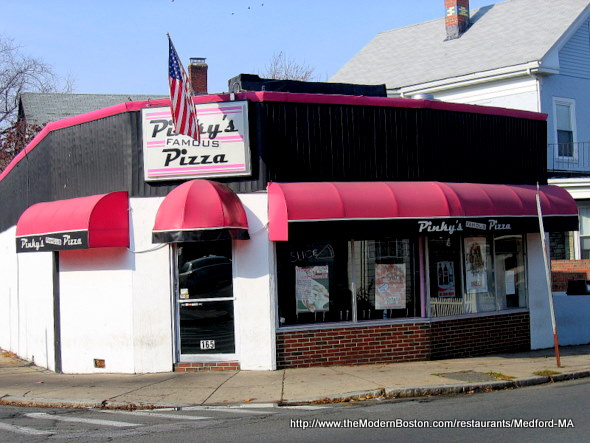 Pinky's Famous Pizza in Medford, Massachusetts