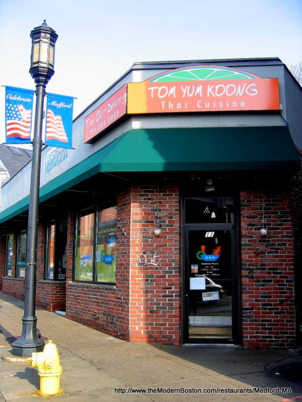 Tom Yum Koong Restaurant in Medford, Massachusetts