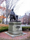 Harvard Square Cambridge Common Charles Sumner Statue